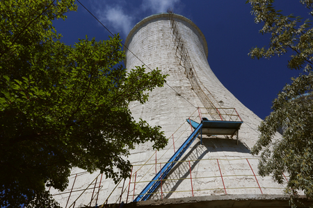 Cooling tower of an alumina refinery plant