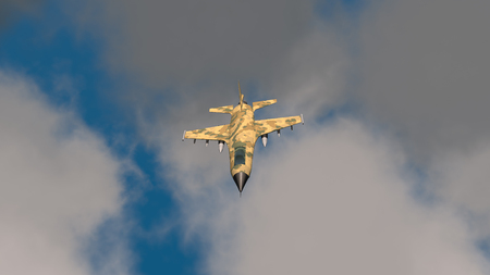 3D Illustration of a fighter jet Stockfoto - 109557608