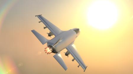3D Illustration of a fighter jet