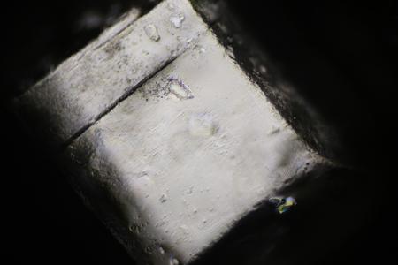 Sugar crystal under polarized light microscope