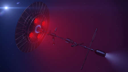 3D Illustration of a scientific spacecraft exploring new worlds Reklamní fotografie
