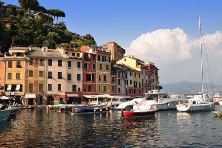 Portofino village harbor, Liguria, Italy