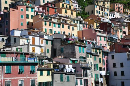 Riomaggiore fishermen village in Cinque Terre, Italy
