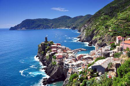Vernazza fishermen village in Cinque Terre, Italy Stock Photo