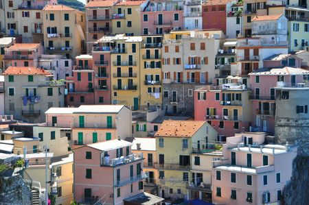 Manarola fishermen village in Cinque Terre, Italy photo