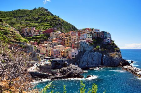 Manarola fisherman village in Cinque Terre, Italy Stock Photo