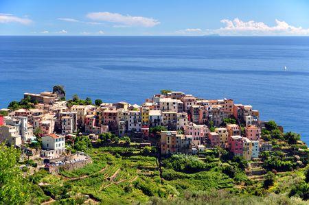 Corniglia fisherman village in Cinque Terre, Italy