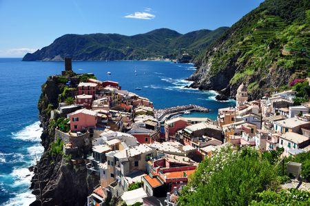 Vernazza fisherman village, Cinque Terre, Italy Stock Photo