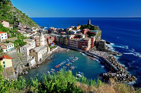 Vernazza fisherman village, Cinque Terre, Italy photo