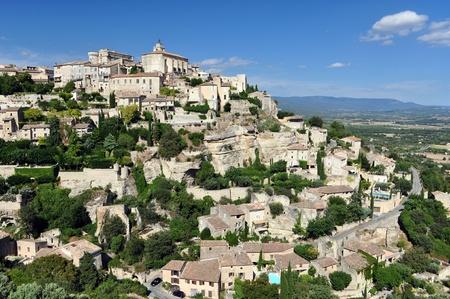 gordes: Gordes medieval beutiful village in Provence, France Stock Photo