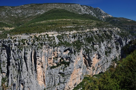 Verdon Canyon, the longest canyopn in Europe Stock Photo