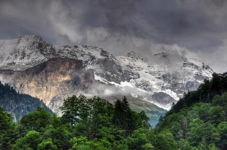 Beautiful high mountain landscape in Switzerland Stock Photo