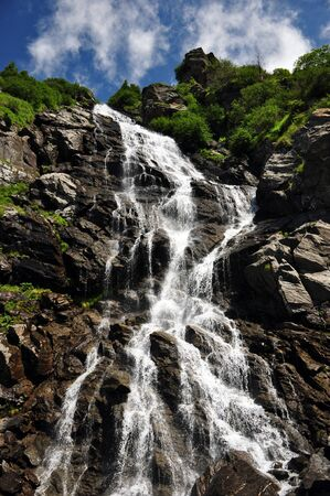 Beautiful big waterfall with short shutter speed