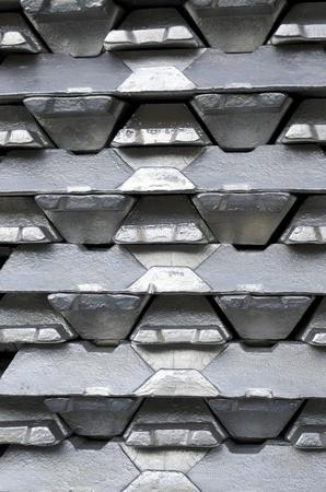 Stack of raw aluminium ingots in aluminium profiles factory Stock Photo - 8871569