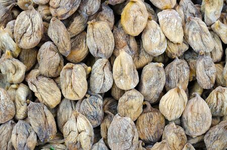 Bunch of dried figs in the market Stock Photo