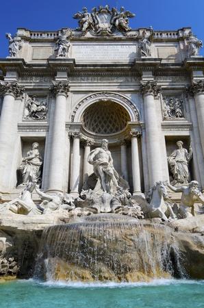 Fontana Di Trevi in Rome, Italy Stock Photo