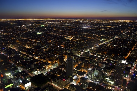 Toronto cityscape at dusk - aerial view photo