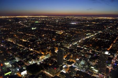 ontario: Toronto cityscape at dusk - aerial view Stock Photo