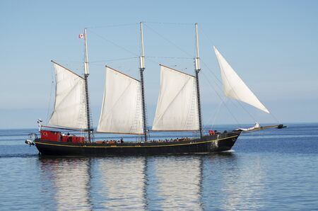Big sailboat navigating on the Mediteraneean Sea Stock Photo