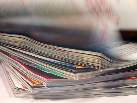 Magazines aspects with a riffling blur aspect Stock Photo - 464420