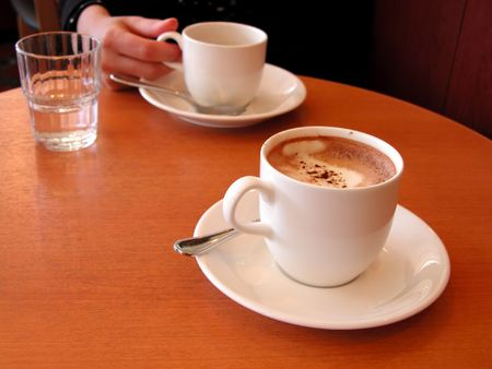 suggestion: coffee meeting suggestion Stock Photo