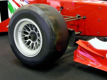 Close up of a formula race car wheel. Stock Photo - 502160