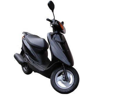 cycles: Fond blanc fini disolement par scooter
