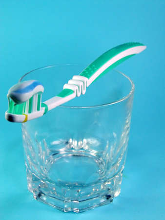 buccal: Toothbrush and toothpaste Stock Photo