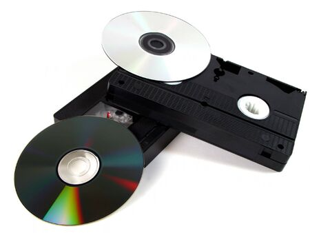music production: Still life with DVDs and video tapes