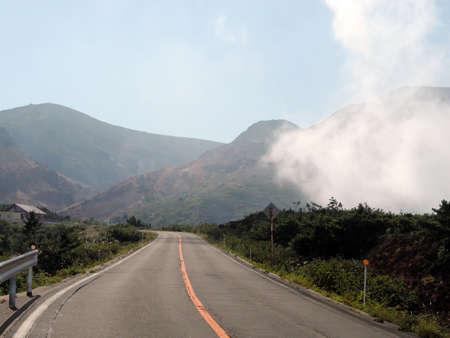 High altitude road-Zao Mountains ,Miyagi Japan Stock Photo - 562580