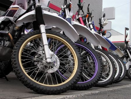 Interesting perspective in front of a bikes shop. Stock Photo - 566291
