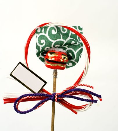 specific: Specific Japanese New Year decoration with copyspace for your message.