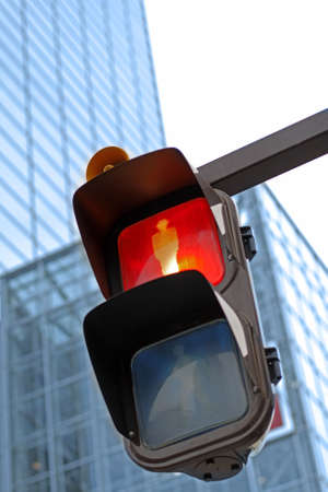 dont walk: Traffic light in