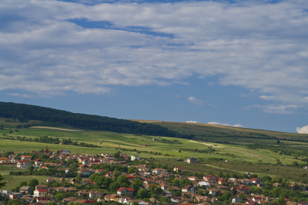 cluj: Image of a Romanian village on the hills surrounding Cluj the main city of Transylvania.