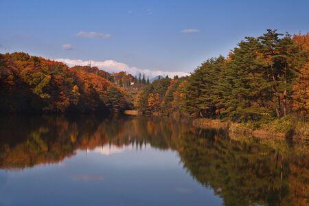 Beautiful autumn landscape.Location : Izumi ward,Sendai,Japan. Stock Photo - 1658414