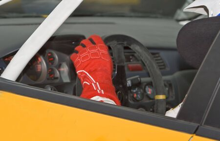 Detail of a cockpit in a rally car.Live image during a rally race. Stock Photo - 2195577