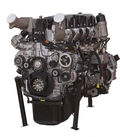 Car engine isolated against a white background. Stock Photo - 2819089