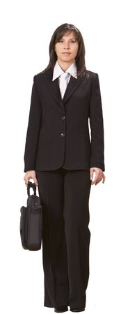 Image of a businesswoman against a white background. photo