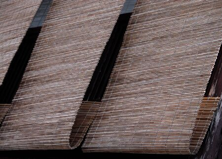 characteristic bamboo blinds from gion-geisha ward in kyoto