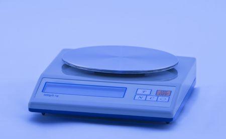 electronic balance: Electronic precise balance. Stock Photo