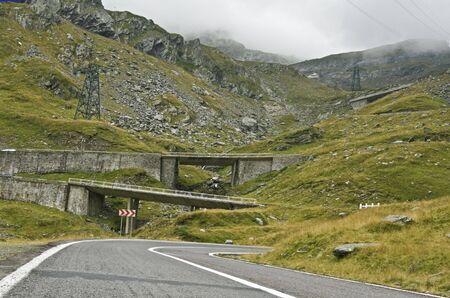 Image of Transfagarasan, the highest Romanian road,located in Fagaras Mountains. photo