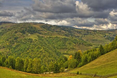 Autumn mountain landscape in a cloudy day.Location:Apuseni Mountains,Romania.(HDR image) Stock Photo - 3679890