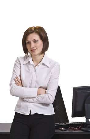 Portrait of a young confident businesswoman in her office. Stock Photo - 3895835