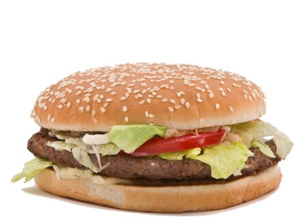 Classic hamburger isolated against a white background. Stock Photo - 4315208