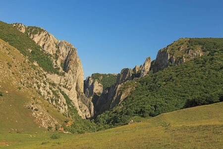 natural landmark: Landscape from Turdas canyon an important natural landmark from Transylvania,Romania. Stock Photo
