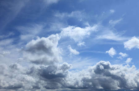 immaterial: Beautiful blue fluffy cloudy sky in a summer day.
