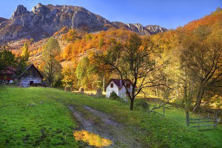 Beautiful rural autumn landscape in Transylvania,Romania.Location:Ramet Gorge. Stock Photo - 5971149