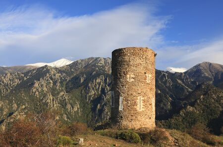 massif: The tower of Goa located in the Canigou massif at 1268 m was built in XIIIth Century and was used as observation point.Remains of such towers are visible throughout the Pyrenees Orientals and Catalunia region.