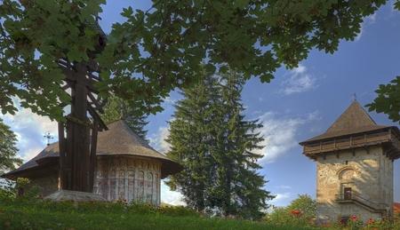recluse: Image of Gura Humorului Monastery,Moldavia,Romania. Stock Photo