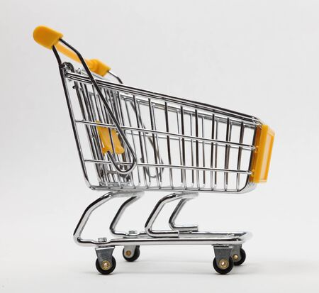 Image of an empty shopping cart against a white background Stock Photo - 8884663